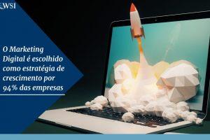 O Marketing Digital é escolhido como estratégia de crescimento por 94% das empresas
